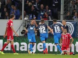 Hoffenheim in festa, bavaresi perplessi. Epa