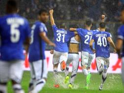 'esultanza dopo il gol di Ferrante LaPresse