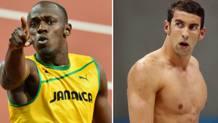 Usain Bolt, padrone della velocità, e Michael Phelps, dominatore del nuoto. Ap/Reuters