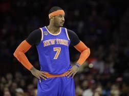 Carmelo Anthony , 33 anni, ai Knicks dal 2011. Ap