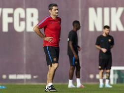Ernesto Valverde durante un allenamento. LaPresse