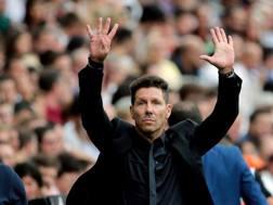 Diego Simeone, allenatore dell'Atletico Madrid dal 2011. Epa