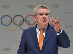 Il presidente Cio, Thomas Bach. Afp