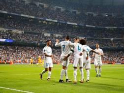 Festa Real Madrid dopo il gol. Reuters