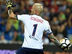 Il portiere del Crotone, ex Inter, Alex Cordaz. Lapresse