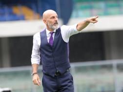 Stefano Pioli indica la strada alla Fiorentina. LaPresse