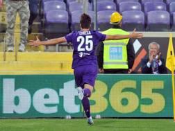 Federico Chiesa, 19 anni, centrocampista Fiorentina. LaPresse