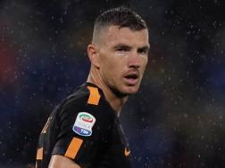 Edin Dzeko, 31 anni, attaccante della Roma Getty