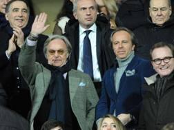 Diego e Andrea Della Valle in tribuna al Franchi. Ansa