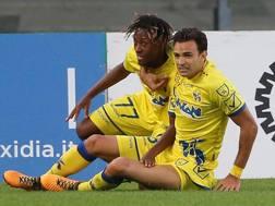 Samuel Bastien dopo il suo primo gol in Serie A Ansa