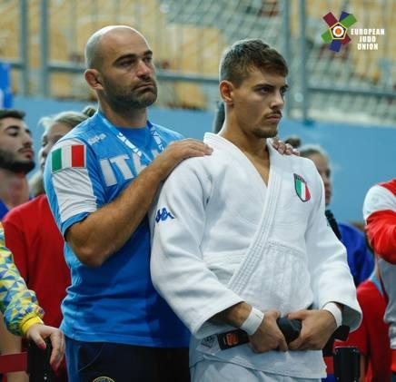 Il tecnico Roberto Meloni con Gabriele Sulli