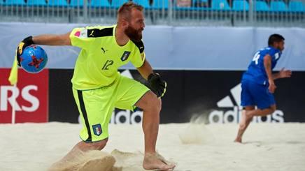 Simone Del Mestre, 34 anni, portiere della Nazionale azzurra di Beach Soccer.