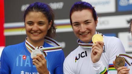 Da sinistra Alessia Vigilia, argento, ed Elena Pirrone, già campionessa europea e ora anche mondiale. Bettini