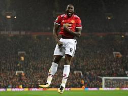 Romelu Lukaku, 24 anni, festeggia il gol in Champions al Basilea. Getty