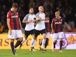 Mauro Icardi dopo il gol. LaPresse