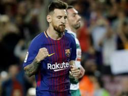 Leo Messi, 30 anni, re dei goleador della Liga 2017-18. Afp