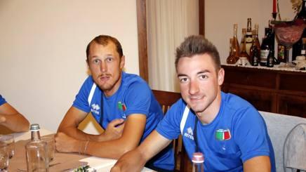 Matteo Trentin e Elia Viviani, 28 anni. Cailotto