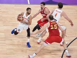 Juan Carlos Navarro in azione all'Europeo appena chiuso col bronzo spagnolo. CiamCast