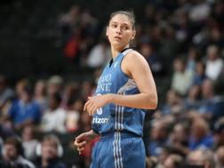 Cecilia Zandalasini con la maglia dei Minnesota Lynx