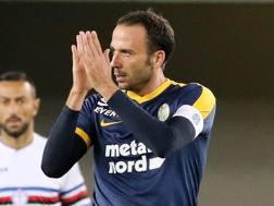 Giampaolo Pazzini, 33 anni, attaccante del Verona LaPresse