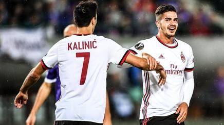 Nikola Kalinic e André Silva, nuovi acquisti del Milan. Epa