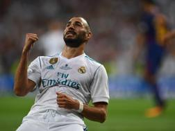 Karim Benzema, attaccante del Real Madrid. Afp