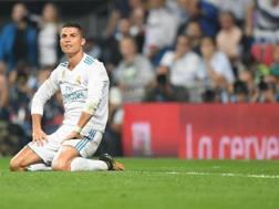 Cristiano Ronaldo incredulo al Bernabeu. Afp
