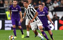 Rodrigo Bentancur contro la Fiorentina. Getty