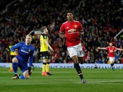 Rashford a segno contro il Burton Albion, Reuters