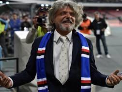 Massimo Ferrero, 66 anni, presidente della Sampdoria dal 2014. Ansa