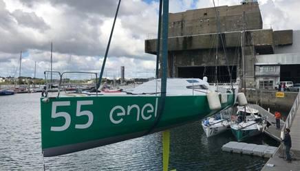 Lo scafo di Enel Green Power pronto al varo