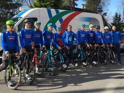 Il team azzurro a Bergen. Twitter@federciclismo