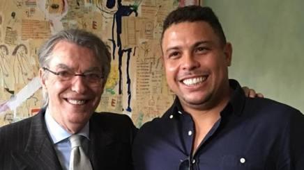 Massimo Moratti (72 anni) e Ronaldo (41 anni)