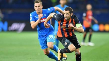 Dario Srna, 35 anni, in azione con il Napoli in Champions League. Ap