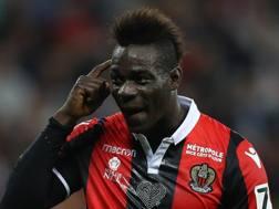 Mario Balotelli, 27 anni, 4 gol nelle ultime 3 gare di Ligue 1. Afp