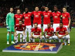 Il Manchester United schierato per la Champions League. Reuters
