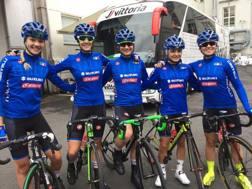 Le azzurre in gara nella prova juniores: da sinistra Fidanza, Guazzini, Pirrone, D'Agostin e Paternoster