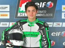 Il giovane pilota Yamaha Manuel Torrini, 14 anni