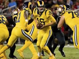 Jared Goff  in azione. Reuters