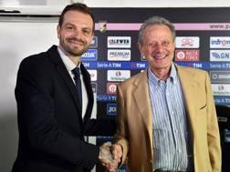 Paul Baccaglini (33) e Maurizio Zamparini (76). GETTY IMAGES