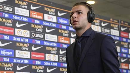 Marco Tumminello, attaccante del Crotone in prestito dalla Roma. Lapresse