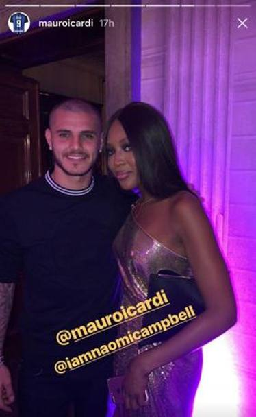 L'attaccante dell'Inter con Naomi Campbell