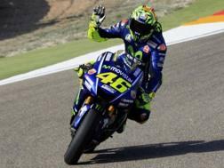 Valentino Rossi, un terzo posto in qualifica da impresa. Epa