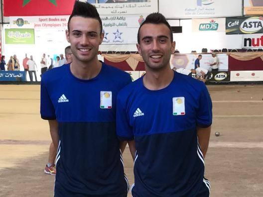 I fratelli Matteo e Simone Mana, bronzo nella staffetta ai Mondiali di Casablanca.