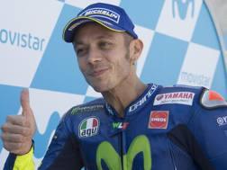 Valentino Rossi, quinto ad Aragon. Getty