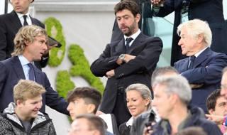 Agnelli in tribuna allo Stadium. LaPresse