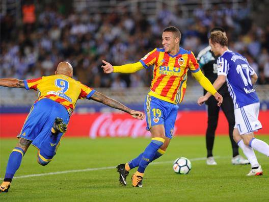 Zaza esulta dopo il gol-partita all'Anoeta. Afp