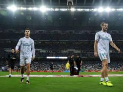 Cristiano Ronaldo e Gareth Bale al Bernabeu. Getty