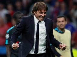La gioia di Antonio Conte nella serata del colpo Chelsea a Madrid con l'Atletico. Action