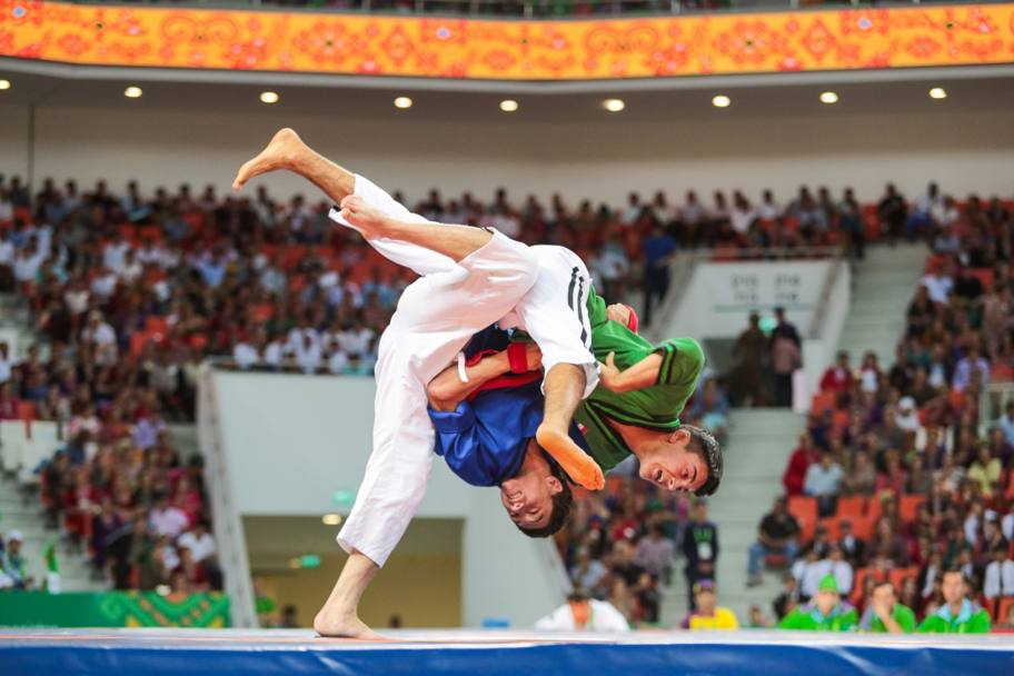 Un momento di gara durante gli Asian Martial Games